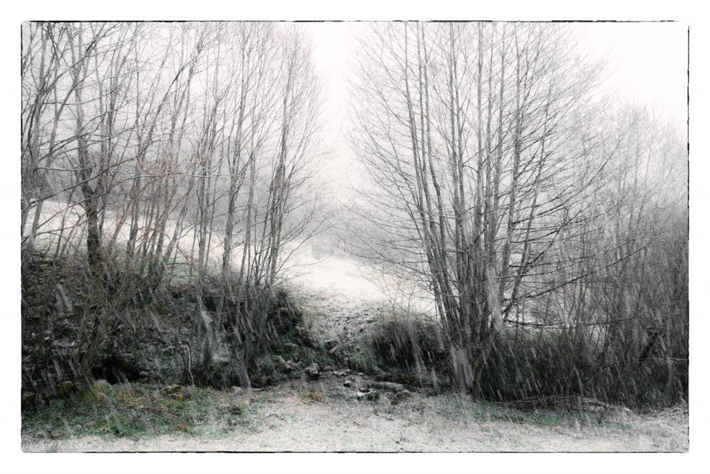 """Foto: © Leif Erling Aasan, """"Regn som går over til snø"""""""