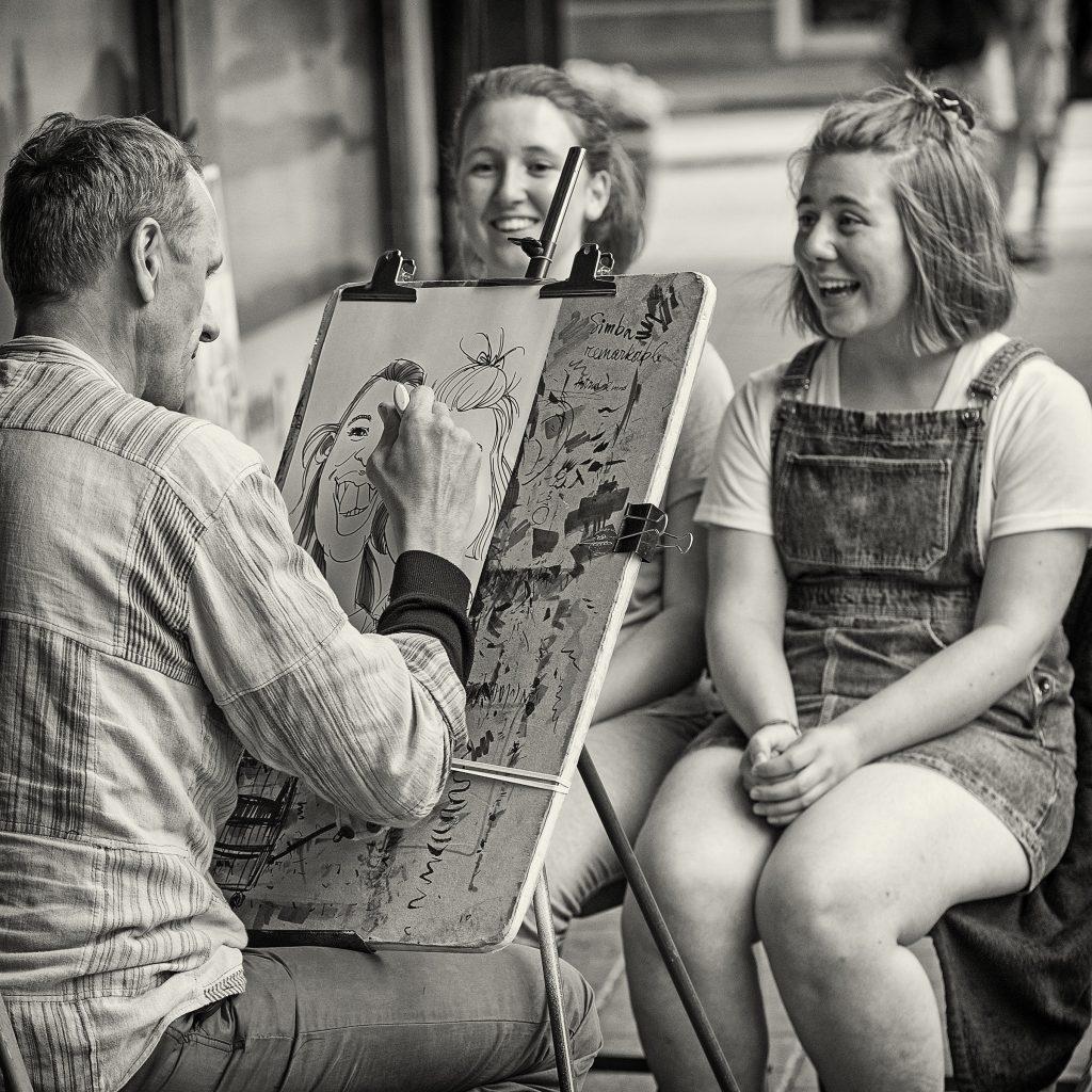 "Foto: © Roar Bech, ""Street painting"""