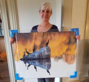 Eva Frisnes stiller ut på Bud kystmuseum i påsken